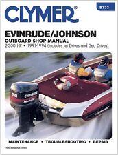 CLYMER 70 HP EVINRUDE JOHNSON OUTBOARD MOTOR REPAIR SERVICE SHOP MANUAL 91-94