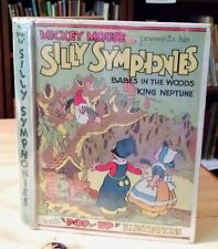 Walt Disney, POP-UP SILLY SYMPHONIES, HC, 1933, Mickey Mouse, Rare