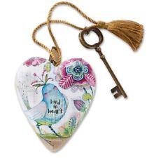 Enesco Demdaco Art Heart & Key Kind In Heart Love Keepsake Friend Gift Present