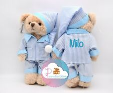 More details for personalised soft toy embroidered teddy bear teddies new baby gift christening