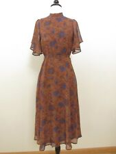 16cfff84597 Anthropologie Maxi Dress New Size Small Floral Tie Key Hole Back Fall Retro  Boho