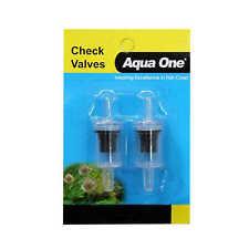 Aqua One Check Valve Carded 2pk for Fish Tank Aquarium Air Pump 10122