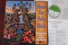 AMBROSIANA CANTANTI MUSICA PER SETTIMANA SANTA LP McCarthy delyse DS 3200 NM con scanalature