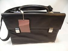 Piquadro Nikolai Leather Briefcase Black Shoulder Bag Handbag