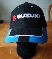 SUZUKI BLACK BASEBALL CAP MOTOGP ADJUSTABLE STRAP FOR SIZE