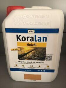 SONDERAKTION 2,5 L HOLZÖL UV-NATUR Koralan PE-KANISTER 13,40 €/l TERRASSENÖL