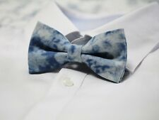 Mir Men's Tuxedo Bowtie Blue Denim Washing  Wedding Party Bow Tie Necktie bt145