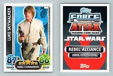 Luke Skywalker #1 Star Wars Force Attax The Force Awakens 2016 Topps Card