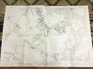 1940 Antique Map of Hampshire Church Crookham Beaconhill Soanes Copse