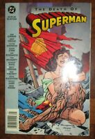 The Death of Superman DC 1993 Newsstand ed TPB softcover Man of Steel