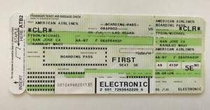 Mike Tyson Airline Ticket to Fly to his Training Camp for the Lewis Fight Leg 2