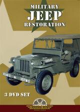WWII Military MB GPW Jeep Restoration 3 DVD SET