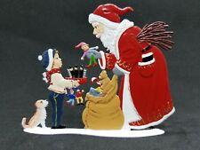 "ARTIST WILHELM SCHWEIZER GERMAN ZINNFIGUREN - Hurry Santa! (3.25""x 4.75"")"