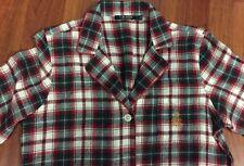Ralph Lauren light weight flannel plaid  night shirt size L