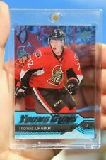 2016-17 Thomas Chabot UD Young Guns Clear Cut Acetate #488 Rookie RC