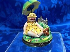 """Authentic French Limoges Trinket Box """"Lady in Central Park"""" Peint Main Le 1/500"""