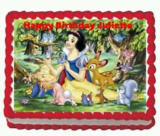 Snow White Princess Birthday Party Icing Edible Cake Topper Image  1/4 sheet