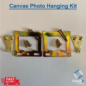 2 Packs Canvas Picture Hanging Kit Complete Fixings Screws Nails Hook