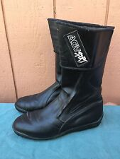 Men's AGV Sport Black Leather Boots Motorcycle US Sz 11 EUC