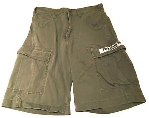 Ralph Lauren Polo Jeans Company Cargo Shorts Army Green Denim Mens Sz 32