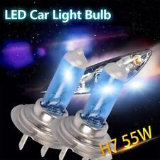 2x H7 XENON HALOGEN BULB 5000K Car Headlights Super White Light Lamp 55W-~