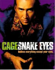 NICOLAS CAGE SIGNED SNAKE EYES PHOTO UACC REG 242 FILM  AUTOGRAPHS