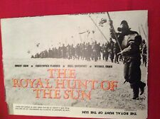 m12t ephemera 1969 film article the royal hunt of the sun shaw plummer inca