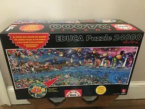 * NEW / SEALED * EDUCA WORLD LARGEST PUZZLE - LIFE - 24000 Pieces USA SELLER !!