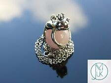 Rose Quartz Frog Natural Gemstone Pendant Necklace 50cm Healing Stone Chakra