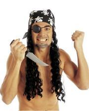 Parrucca Pirata Con Bandana e Benda, Accessori Costume Carnevale PS 19983