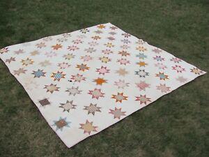 Antique 1800's Vermont Star Quilt.