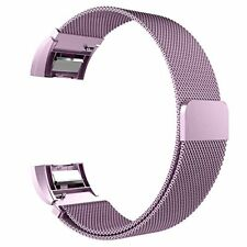 Replacement Band - Fitbit Charge 2 - Purple Stainless Steel Mesh - Small 5.5-8.1