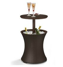 Party Cooler Cocktail Table Pool Poolside Ice Chest Patio Deck Bar Rattan New