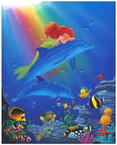 Disney Fine Art Limited Edition Canvas Underwater Dreams-Little Mermaid