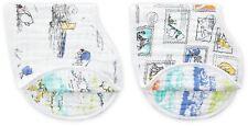 Aden + Anais Disney Baby Classic Bajoterra Babero 2 Pack Winnie Pooh Algodón BN