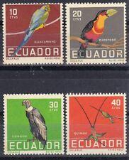 ECUADOR 1958 Tropical Birds, full set of MNH stamps.
