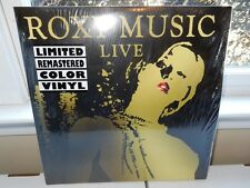 "Roxy Music ""Live"" 3XLP Remastered Gold Colored Vinyl Brand new 2016 RARE Records"