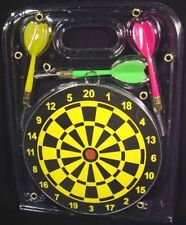 New Compact Wooden Dart Board and 3 Darts Set - Rules & Instructions