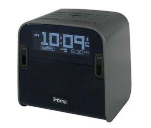 iHome Bluetooth FM Clock Radio With Speakerphone And Dual USB Charging