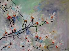 "Original Oil Painting Magnolia Blossom  18x24""      Julia Lu"