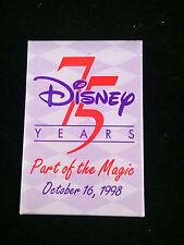 "WDCC Disney Pin - 2"" x 3"" - Disney 75 Years - Part of the Magic October 16, 1998"