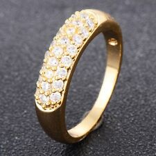 mens ring size 8 womens engagement promise 18k gold filled crystal vintage