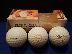 Jack Nicklaus Golden Bear Sleeve Of 3 Vintage Golf Balls
