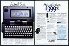 1989 Atari Portfolio portable computer photo vintage print ad