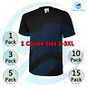 3 / 5 / 15 x Black T-Shirt Men's Classic Tee Shirt 100% Cotton 180gsm Casual LOT