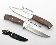Christmas,Groomsman Gift- Personalized Engraved Hunting Knife Rosewood handle-68