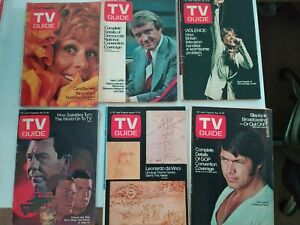 12 TV Guide Lot from 1972 - July to September
