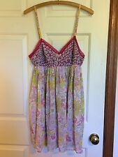Boho summer Liberty Of London Dress lingerie Large _ Hippie floral empire 12 14