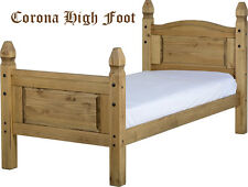 3FT SINGLE BED FRAMES SOLID WAXED PINE LOW AND HIGH END STYLES - Free Delivery