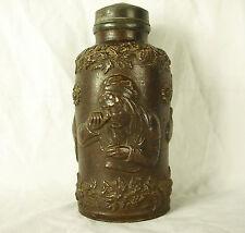 Ancien pot à tabac figurant 1 priseuse tobacco jar Tabakglas Schnupftabak  21cm